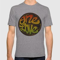 One Love Mens Fitted Tee Athletic Grey SMALL