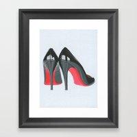 Louboutin Heels Framed Art Print