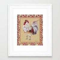 Whitney Farms Rooster Framed Art Print