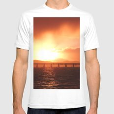 Stormy Sunset Mens Fitted Tee White SMALL