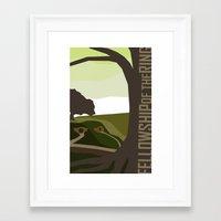 Minimalist - Fellowship of the Ring Framed Art Print