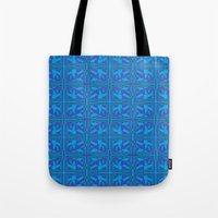 Blue Green Layers Tote Bag