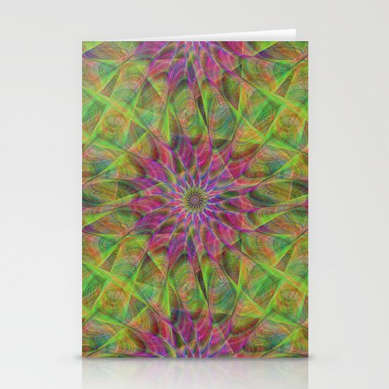 Fractal pattern Stationery Card