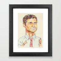 chris traeger Framed Art Print