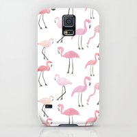 Galaxy S5 Cases featuring Flamingos by Abby Galloway