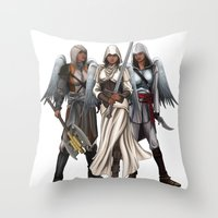 Warrior Angels Throw Pillow