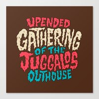 Upended Gathering Of The… Canvas Print
