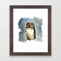 Little, Brown Framed Art Print