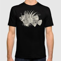 fish mirage mint Mens Fitted Tee Black SMALL