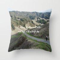 Thousand Miles Throw Pillow