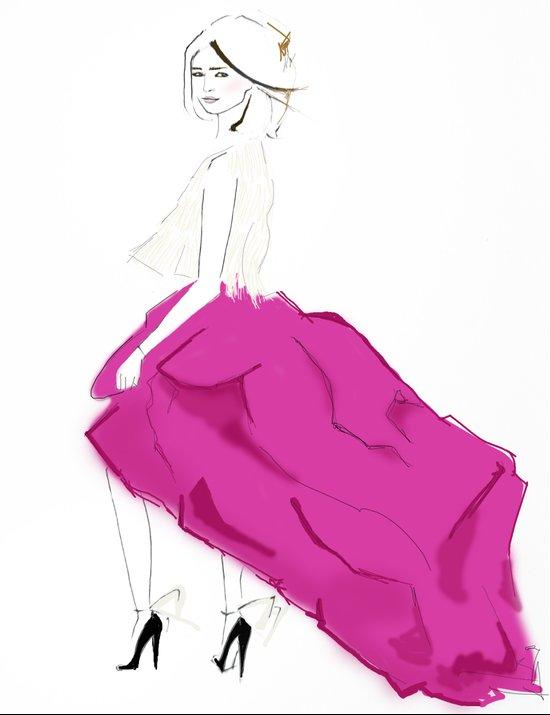 Pink Skirts Canvas Print