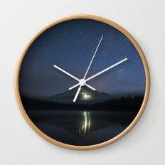 Lights on Mount Hood Wall Clock