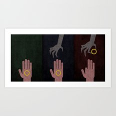 Lord of the Rings Minimalist Posters: Trilogy Art Print