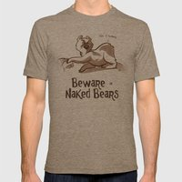 Beware Of Naked Bears Mens Fitted Tee Tri-Coffee SMALL