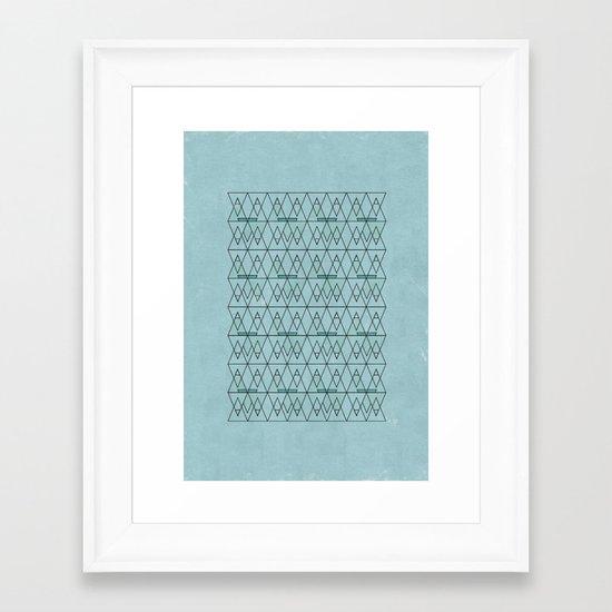 spo·rad·ic  Framed Art Print
