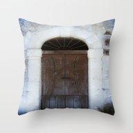 Old Door II Throw Pillow