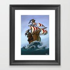 Fancy pirates! Framed Art Print