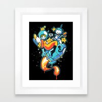 A Is For Astronaut Framed Art Print