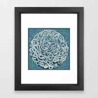 Detailed circlecorner, blue Framed Art Print