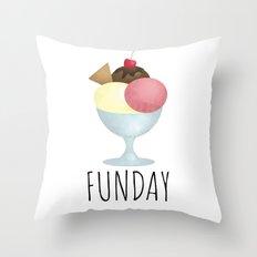 Sundae Funday Throw Pillow