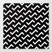 B/W S shape pattern Canvas Print