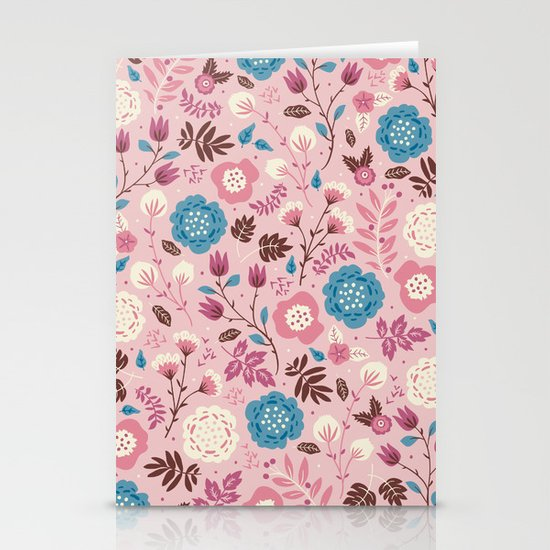 Pretty Pink Stationery Card