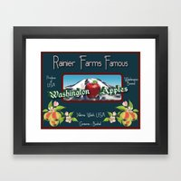 Washington Apples Framed Art Print