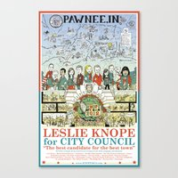Leslie Knope For City Co… Canvas Print