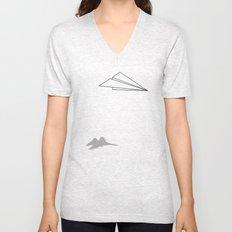 Paper Airplane Dreams Unisex V-Neck