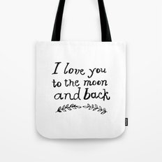 To the Moon and Back- White Tote Bag