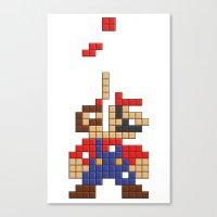 Super Mario Tetris Canvas Print