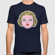 Baby Face Mens Fitted Tee Navy SMALL