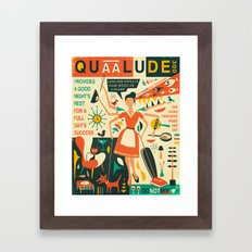 Q IS FOR QUAALUDE Framed Art Print