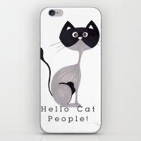 Hello Cat People iPhone & iPod Skin