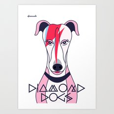 Diamonds Dogs Art Print