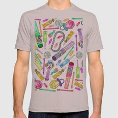 Neon 80's 90's Retro Funny Candy Pattern Mens Fitted Tee Cinder SMALL