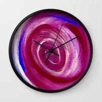 Deep Red Cyclone Wall Clock