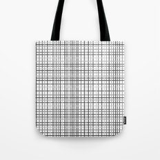 Weave Black and White Tote Bag