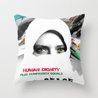 Freedom For Syria Throw Pillow