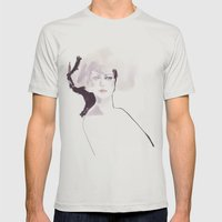 Fashion Illustration In … Mens Fitted Tee Silver SMALL