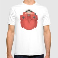 Owl-Master Mens Fitted Tee White SMALL