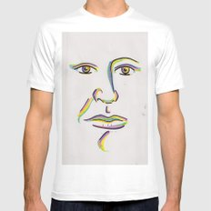 Colorful White Mens Fitted Tee SMALL