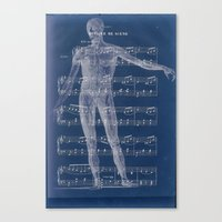 Canvas Print featuring Anatomical by Candace Fowler Ink&Co.