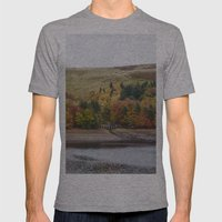Autumnal Trees At Derwen… Mens Fitted Tee Athletic Grey SMALL