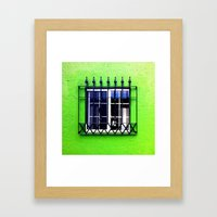Green erectile Framed Art Print
