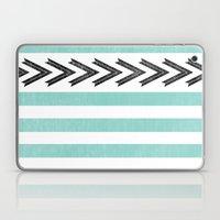 ARROW STRIPE {TEAL} Laptop & iPad Skin