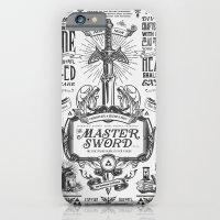 iPhone & iPod Case featuring Legend of Zelda Vintage Master Sword Advertisement by Barrett Biggers