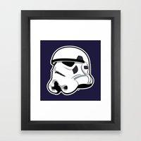 Trooper Bucket - Star Wars Framed Art Print