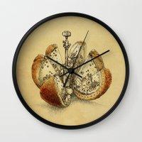 Steampunk Orange (sepia) Wall Clock
