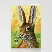 Funny Rabbits - One Dais… Stationery Cards